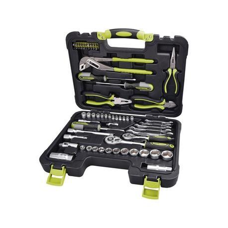 Extol Craft 6598 Sada náradia a nástrčných kľúčov, 65ks, kufor, CrV