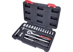 """Extol Premium Sada nástrčných kľúčov 19-dielna, 1/4"""", plastový kufor 8818309"""