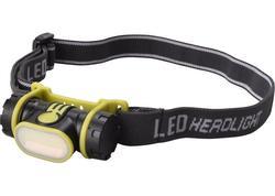 Extol Light 43106 Čelovka 2W COB LED, 90lm, 1xAA, s plochým svetlom