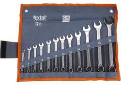 Extol Premium 6333 Kľúče očko-vidlicové Cr-V, 12-dielna sada, 6-22mm