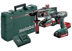 Metabo Combo set Aku vŕtačka so skrutkovačom BS 18 + Aku kombinované kladivo KHA 18 LTX, 685083000
