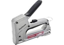 Fortum Pištoľ sponkovacia 5-funkčná, spony 8-14x1,2mm, 6-14x0,75mm, U 10-14x1.2mm, I 15x1.2mm, nastaviteľný tlak HI/LOW 4770704