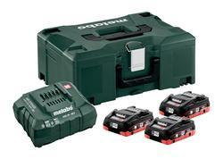 Metabo Basic set 3x LiHD 3.5Ah akumulátorov s nabíjačkou + Metaloc, 685133000