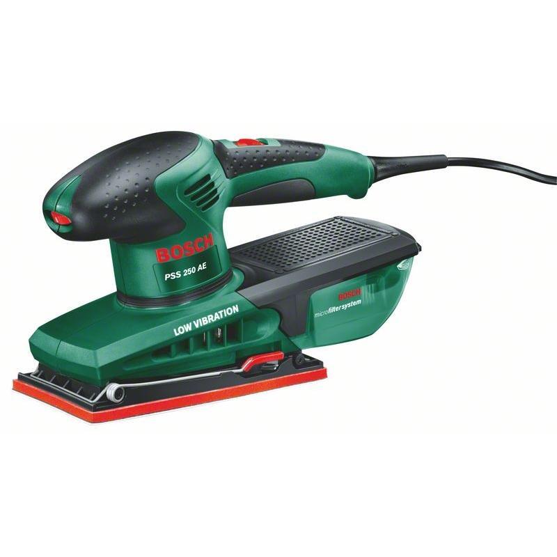 3108e9ab8874b Bosch PSS 250 A/AE Vibračná brúska s reguláciou otáčok 250 W, kufor ...