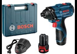 Bosch GDR 120-LI Professional Aku rázový uťahovač 12 V, 2 x 1,5 Ah, kufor 06019F0001