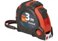 Extol Premium Meter zvinovací, pogumovaný s magnetom, 3x brzda, 3m, šírka pásu 19mm 3123