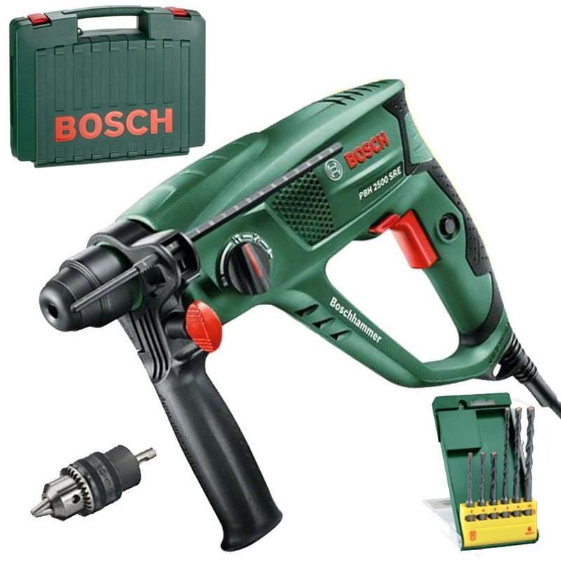 Voorkeur Bosch PBH 2500 SRE Kombinované kladivo 600 W v kufríku + 6-dielna AN36