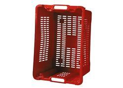 Strend Pro ICS M402000 Prepravka červená perforovaná 40 lit, 56x35x31 cm