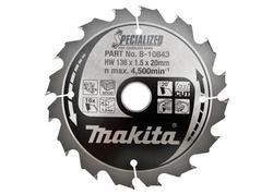 Makita B-10643 Pílový kotúč Ø136 x20mm, 16Z