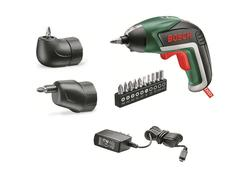 Bosch IXO Full súprava Aku skrutkovač 3,6V s uhlovým a excentrickým nadstavcom 06039A8022