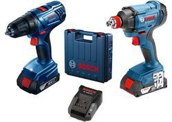 Bosch GDX 180-LI + GSR 180-Li 2× 2,0 Ah Professional Akumulátorový rázový uťahovač 18V