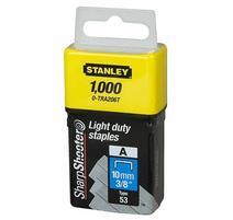 """Stanley 1-TRA206T Spony štandardné 10mm/3/8"""" 1000 ks typ A 5/53/530"""
