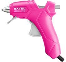 Extol Lady Pištoľ lepiaca tavná ružová, max. 70W, pracovný príkon 25W, tavné tyčinky pr.7,2mm 422003