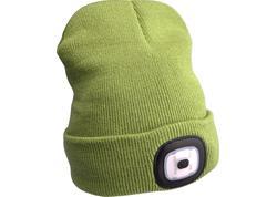 Extol Light Čiapka s čelovým svetlom, 45lm, Li-ion akumulátor 300mAh, zelená, nabíjanie cez USB 43192