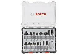Bosch 2607017471 Sada frézok 15-dielna, stopka 6mm