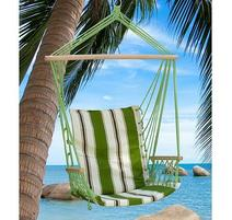 Strend Pro CRAIG Zelené kreslo bavlna max. 150 kg, 100x50 cm