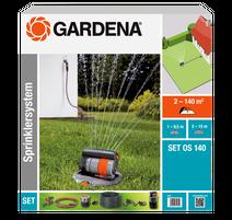 Gardena OS 140 Kompletná sada s výsuvným štvorplošným zadažďovačom 8221-20