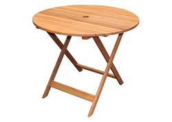 Strend Pro LEQ SVENDBORG Drevený okrúhly stôl 90x90x72 cm