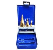Strend Pro SS422 Sada vrtákov stupňovitý, špirálový, do kovu 4-12, 4-20, 4-32 mm, TiN, HSS 4241