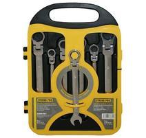 Strend Pro CSS819 Sada kľúčov vidlicová, račňová s kĺbom 07 dieľna 8-19 mm