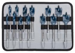 Bosch 2608587010 13-dielna súprava plochých frézovacích vrtákov Self Cut Speed