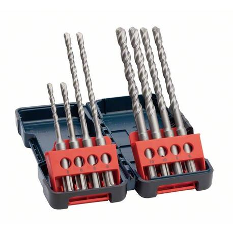 Bosch 2607019903 8-dielna súprava vrtákov do kladív SDS plus-3, Tough Box