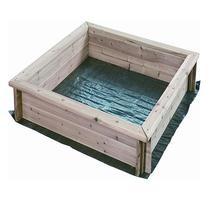 Strend Pro LEQ SANBOX Detské drevené pieskovisko plachta 95x95x15cm