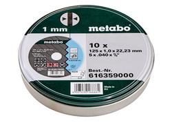 """Metabo 616359000 10 Rezných kotúčov """"SP"""" 125X1,0X22,23 INOX, TF 41"""