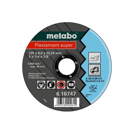 Metabo Flexiamant Super Kotúč 125x6,0x22,23 INOX, SF 27, 616747000