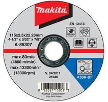 Makita A-85307 Rezný kotúč 115 x 2,5 x 22 mm