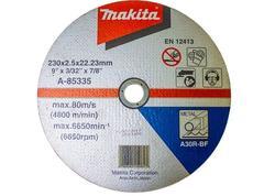 Makita A-85335 Rezný kotúč na železo 230x2.5x22 (plochý)