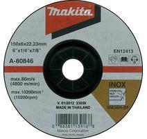 Makita A-80846 Brúsny kotúč Ø150 x 6 x 22mm, na oceľ a nehrdzavejúcu oceľ
