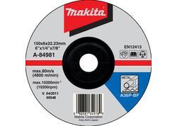 Makita A-84981 Brúsny kotúč  Ø150 x 6 x 22mm