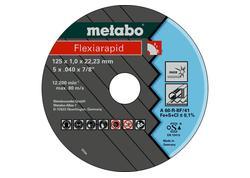Metabo 10 X FLEXIARAPID Rezné kotúče 125 X 1,0 X 22,23 INOX, TF 41, 616099000