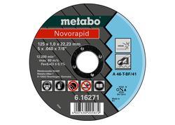Metabo NOVORAPID Rezný kotúč 125 X 1,0 X 22,23 INOX, TF 41, 616271000