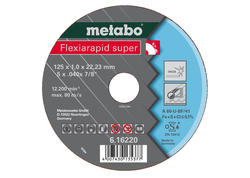 Metabo FLEXIARAPID SUPER Rezný kotúč 115x1,0x22,23 INOX, TF 42, 616217000