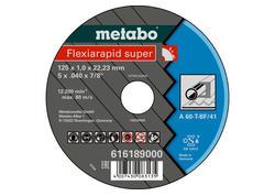 Metabo FLEXIARAPID SUPER Rezný kotúč 125x1,0x22,23 Oceľ, TF 41, 616189000
