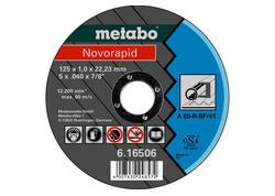 Metabo NOVORAPID Rezný kotúč 125 x 1,0 x 22,23 mm, Oceľ, TF 41, 616506000