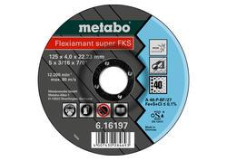 Metabo FLEXIAMANT SUPER FKS 40 Brúsny kotúč 125x4,0x22,23 INOX, SF 27, 616197000