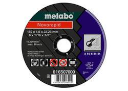 Metabo NOVORAPID Rezný kotúč 150 x 1,6 x 22,23 mm, Oceľ, TF 41, 616507000