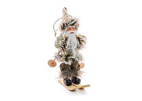 MagicHome XmMX199 Dekorácia Santa na lyžiach, závesný, 18 cm