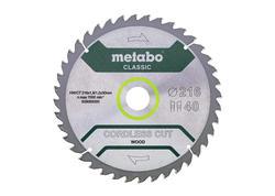 "Metabo Pílový kotúč ""CORDLESS CUT WOOD - CLASSIC"", 216x30 Z40 WZ 5°, 628065000"