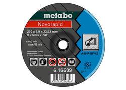 Metabo Rezný kotúč NOVORAPID 180 x 1,6 x 22,23 mm, Oceľ, TF 42, 616508000