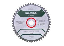 """Metabo Pílový kotúč """"PRECISION CUT WOOD - CLASSIC"""", 254x30 Z48 WZ 5°NEG., 628061000"""