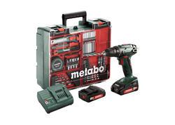 Metabo BS 18 SET Akumulátorový vŕtací skrutkovač 18 V, 602207880