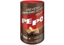 PE-PO Podpaľovač drevný, kocky, 100 podpalov, 2171069