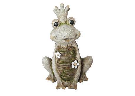 MagicHome Gecco 8104 Dekorácia Kráľovná Žaba, magnesia, 43 cm