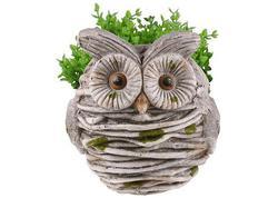 MagicHome Gecco 8118 Dekorácia Sova v hniezde, magnesia, 30 cm