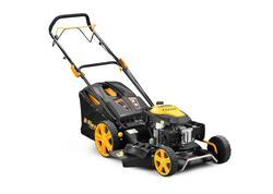 Riwall PRO RPM 5355 multifunkčný trávna kosačka 4 v 1 s benzínovým motorom a pojazdom
