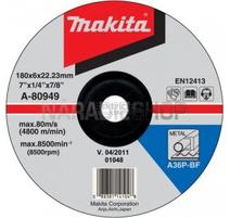 Makita A-80949 Brúsny kotúč na kov Ø180 x 6 x 22 mm